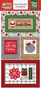 Jingle All The Way 6x13 Chipboard Frames - Echo Park