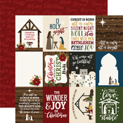 4x4 Journaling Cards Paper - The First Noel - Echo Park