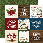 3x4 Journaling Cards Paper - The First Noel - Echo Park