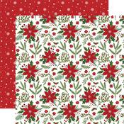 Pretty Poinsettias Paper - Christmas Magic - Echo Park