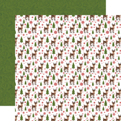 Red Nosed Reindeer Paper - Christmas Magic - Echo Park