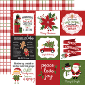 4x4 Journaling Cards Paper - Christmas Magic - Echo Park