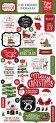 Christmas Magic 6x13 Chipboard Phrases - Echo Park