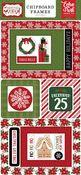 Christmas Magic 6x13 Chipboard Frames - Echo Park