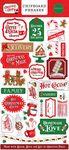 Christmas Cheer 6x13 Chipboard Phrases - Carta Bella