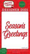 Nostalgic Season's Greetings Die Set - Christmas Cheer - Carta Bella