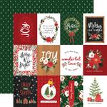 3x4 Journaling Cards Paper - Happy Christmas - Carta Bella