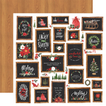 Christmas Signs Paper - Happy Christmas - Carta Bella