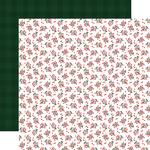 Holiday Hollies Paper - Happy Christmas - Carta Bella