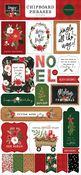 Happy Christmas 6x13 Chipboard Phrases - Carta Bella