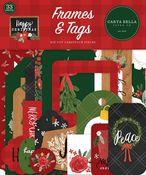 Happy Christmas Frames & Tags - Carta Bella