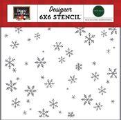 Tis The Season Stencil - Happy Christmas - Carta Bella