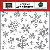 Happy Snowflakes Stencil - Happy Christmas - Carta Bella