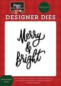 Merry & Bright Die Set - Happy Christmas - Carta Bella