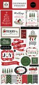 Home For Christmas 6x13 Chipboard Phrases - Carta Bella