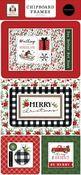 Home For Christmas 6x13 Chipboard Frames - Carta Bella