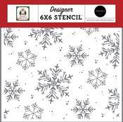 White Christmas Stencil - Home For Christmas - Carta Bella