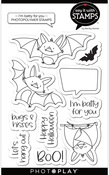 I'm Batty For You Stamp Set - Say It With Stamps - Photoplay