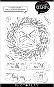 Holiday Wreath Stamp Set - Say It With Stamps - Photoplay