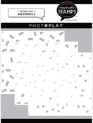 Candy Corn 6x6 Stencils 3-piece - Say It With Stamps  - Photoplay - PRE ORDER