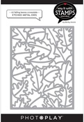 A2 Falling Leaves Coverplate Die - Say It With Stamps  - Photoplay