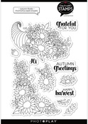 Autumn Florals 6x8 Stamps - Say It With Stamps  - Photoplay