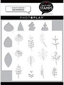 Autumn Leaves 6x6 Stencils 2-Piece - Say It With Stamps  - Photoplay