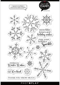 Layered Snowflakes 6x8 Stamps - Say It With Stamps  - Photoplay