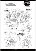 Poinsettia 6x8 Stamps - Say It With Stamps  - Photoplay
