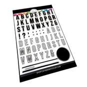 Simple Alphabet 6x8 Stamp Set - Catherine Pooler