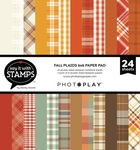 Fall Plaid 6x6 Paper Pad - Say It With Stamps  - Photoplay - PRE ORDER