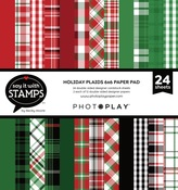 Christmas Plaid 6x6 Paper Pad - Say It With Stamps  - Photoplay - PRE ORDER