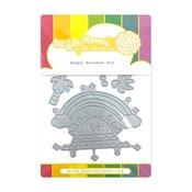 Happy Rainbow Die - Waffle Flower Crafts