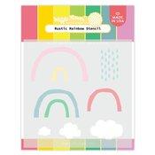 Rustic Rainbow Stencil - Waffle Flower Crafts