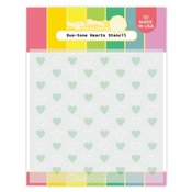 Duo-tone Hearts Stencil - Waffle Flower Crafts