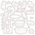 Smitten Kittens Honey Cuts - Honey Bee Stamps