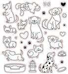 Puppy Dog Tails Honey Cuts - Honey Bee Stamps