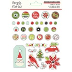 Make it Merry Decorative Brads - Simple Stories