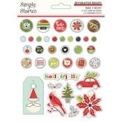 Make it Merry Decorative Brads - Simple Stories - PRE ORDER