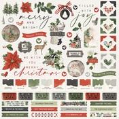 Simple Vintage Rustic Christmas Cardstock Sticker - Simple Stories
