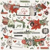 Simple Vintage  Rustic Christmas Banner Sticker - Simple Stories