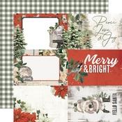 4x6 Elements Paper - Simple Vintage Rustic Christmas - Simple Stories - PRE ORDER