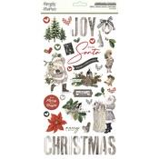 Simple Vintage Rustic Christmas 6x12 Chipboard Stickers - Simple Stories - PRE ORDER
