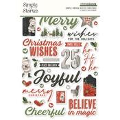 Simple Vintage Rustic Christmas Sticker Book - Simple Stories