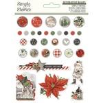 Simple Vintage Rustic Christmas Decorative Brads - Simple Stories