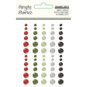 Simple Vintage Rustic Christmas Enamel Dots - Simple Stories