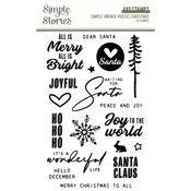 Simple Vintage Rustic Christmas Clear Stamps - Simple Stories - PRE ORDER