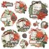Simple Vintage Rustic Christmas Chipboard Clusters - Simple Stories