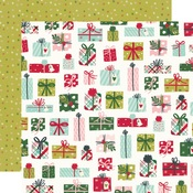 No Peeking! Paper - Holly Days - Simple Stories