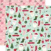 Hey Santa! Paper - Holly Days - Simple Stories